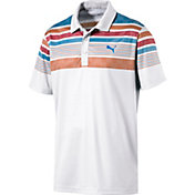 PUMA Men's Jersey Stripe Golf Polo
