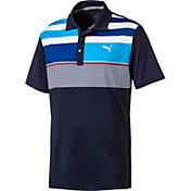 PUMA Men's Road Map Asym Golf Polo