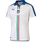 PUMA Men's Italy Euro 2016 White Replica Away Jersey