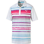 PUMA Men's Washed Stripe Golf Polo