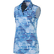 PUMA Women's Bloom Stripe Sleeveless Golf Polo