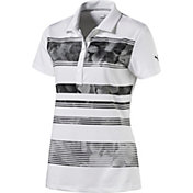 PUMA Women's Bloom Stripe Golf Polo