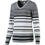 PUMA Women's Depth V-Neck Golf Sweater