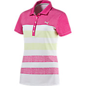 PUMA Women's Road Map Texture Golf Polo