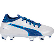 PUMA Kids' evoTOUCH 3 Leather FG Soccer Cleats