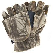 QuietWear Men's Waterproof Fleece Flip Mittens