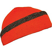 QuietWear Men's Reversible Knit Fleece Visor Hat