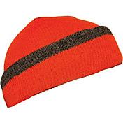 QuietWear Men's Reversible Knit Fleece Visor Hat
