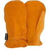 QuietWear Men's Split Leather Thinsulate Mittens