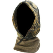 QuietWear Camo Fleece Hood with Knit Neck