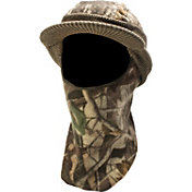 QuietWear Knit Fleece Visor with Drop Down Mask