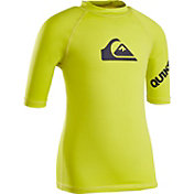 Quiksilver Little Boys' All Time Short Sleeve Rash Guard