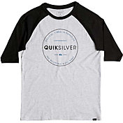 Quiksilver Boys' Free Zone Raglan Long Sleeve Shirt