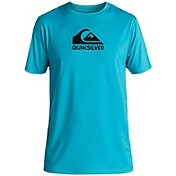 Quiksilver Boys' Solid Streak Short Sleeve Rash Guard