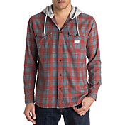 Quiksilver Men's Snap Up Hooded Flannel Long Sleeve Shirt