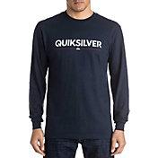 Quiksilver Men's Wordmark Long Sleeve Shirt