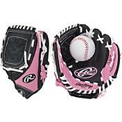 "Rawlings 9"" Girls' T-Ball Glove w/ Ball"