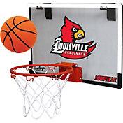 Rawlings Louisville Cardinals Game On Backboard Hoop Set