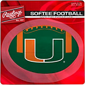 Rawlings Miami Hurricanes Quick Toss Softee Football