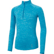 Reebok Girls Cold Weather Spacedye Quarter Zip Long Sleeve Shirt