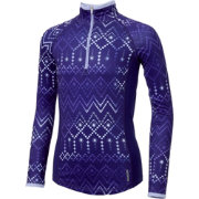 Reebok Girls' Cold Weather Printed Quarter Zip Long Sleeve Shirt