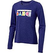 Reebok Girls' Dance Graphic Long Sleeve Shirt