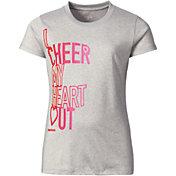 Reebok Girls' Crewneck Cheerleading Graphic T-Shirt