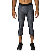 Reebok Men's All Season Printed Three Quarter Length Compression Tights