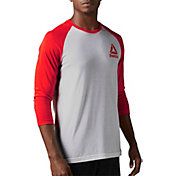 Reebok Men's Baseball Three Quarter Length Sleeve Shirt