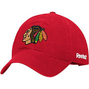 Reebok Men's Chicago Blackhawks Red Slouch Adjustable Hat