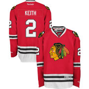 Reebok Men's Chicago Blackhawks Duncan Keith #2 Home Red Premier Jersey