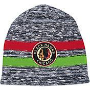 Mitchell & Ness Men's Chicago Blackhawks Static Stripe Grey Beanie