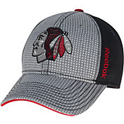 Reebok Men's Chicago Blackhawks Center Ice Two-Tone Grey/Black Structured Flex Hat