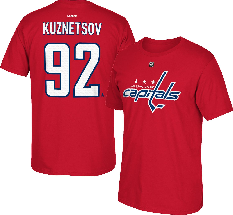 ... Jersey Reebok Mens Washington Capitals Evgeny Kuznetsov 92 Replica Home  Player T- Shirt. f00c4280b