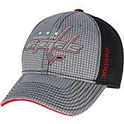Reebok Men's Washington Capitals Center Ice Two-Tone Grey/Black Structured Flex Hat