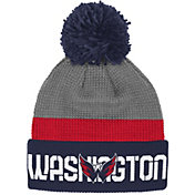 Reebok Men's Washington Capitals Center Ice Cuffed Pom Knit Hat