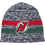 Mitchell & Ness Men's New Jersey Devils Static Stripe Grey Beanie