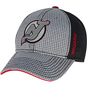 Reebok Men's New Jersey Devils Center Ice Two-Tone Grey/Black Structured Flex Hat