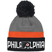Reebok Men's Philadelphia Flyers Center Ice Cuffed Pom Knit Hat