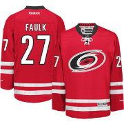 Reebok Men's Carolina Hurricanes Justin Faulk #27 Premier Replica Home Jersey