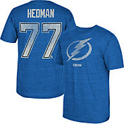 CCM Men's Tampa Bay Lightning Victor Hedman #77 Replica Home Player T-Shirt