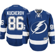 Reebok Men's Tampa Bay Lightning Nikita Kucherov #86 Premier Replica Home Jersey