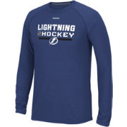 Reebok Men's Tampa Bay Lightning Center Ice Locker Room Navy Long Sleeve T-Shirt