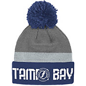Reebok Men's Tampa Bay Lightning Center Ice Cuffed Pom Knit Hat