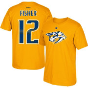 Reebok Men's Nashville Predators Mike Fisher #12 Home Player T-Shirt