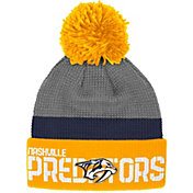 Reebok Men's Nashville Predators Center Ice Cuffed Pom Knit Hat