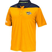 Reebok Men's Nashville Predators Center Ice Statement Gold/Navy Polo