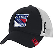 Reebok Men's New York Rangers Center Ice Slouch Black Flex Hat