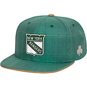 Reebok Men's New York Rangers St. Patrick's Day Green Plaid Snapback Hat