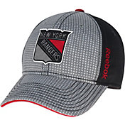 Reebok Men's New York Rangers Center Ice Two-Tone Grey/Black Structured Flex Hat